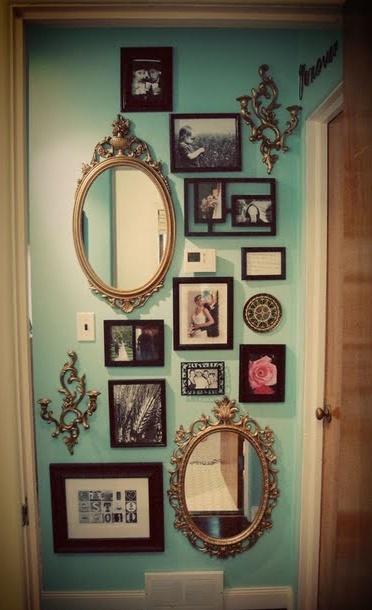Vintage Wall Decoration Ideas : Ideias para criar uma parede com quadros